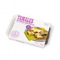 LA REINA - Tamales mit Hühnchen und Mole-Sauce - Tamales de Mole con Pollo, 315g