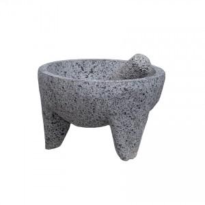SUCOS DO BRASIL Mörser aus Vulkanstein, Ø 18cm - Molcajete Piedra Volcanica (groß)