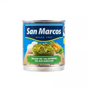 SAN MARCOS Grüne Jalapeños in Streifen - Rajas de Chiles Jalapeños en Escabeche, 215g