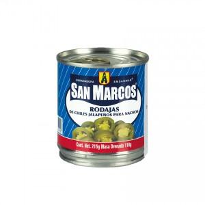 SAN MARCOS Grüne Jalapeños-Chili in Scheiben - Rodajas de Chiles Jalapeños 215g