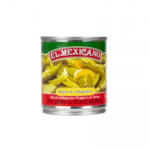 EL MEXICANO Jalapeños Chilis in Streifen - Rajas de Jalapeños, 220g