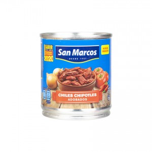 SAN MARCOS Ganze Chipotle-Chili in Adobo-Soße - Chiles Chipotle Adobados 215g