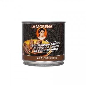 LA MORENA - Jalapeño-Chilis mit Bohnen gefüllt - Chiles Jalapeños Rellenos con Frijoles, 372g