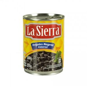 LA SIERRA gewürzte Ganze Schwarze Bohnen Frijoles Negros Enteros condimentados 560g