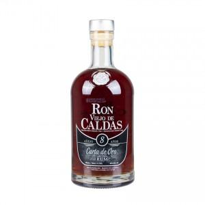 VIEJO DE CALDAS Brauner Rum- 8 Jahre -Ron Carta de Oro 700ml 37,5%vol