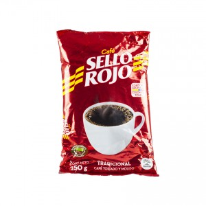 Café SELLO ROJO tostado y molido 250g