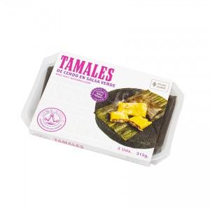 LA REINA - Tamales mit Schweinefleisch in grüner Sauce - Tamales de Cerdo en Salsa Verde, 315g