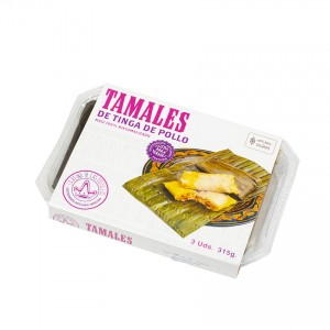 LA REINA - Tamales mit Hühnchen-Tinga - Tamales de Tinga de Pollo, 315g