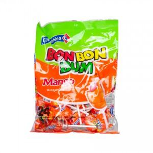 COLOMBINA Bon Bon Bum - Lutscher, Mango - Paletas Sabor Mango Rellenas de Chicle, 408g