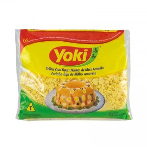 YOKI Maismehl-Flocken Farinha Biju de Milho Amarela 500g
