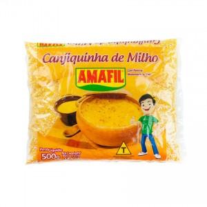 AMAFIL Gelber Mais, getrocknet und gehackt Canjiquinha de Milho 500g