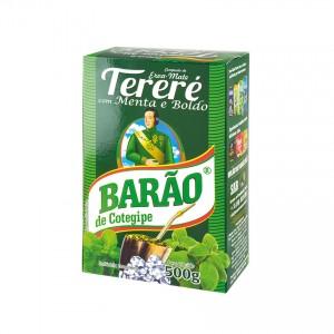 BARÃO Mate-Tee mit Minze Yerba Mate con Menta 500g