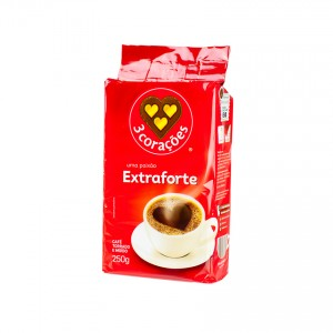 3 CORAÇÕES Gemahlener Kaffee (extra stark) Café extra-forte 250g
