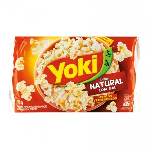 YOKI Mikrowellen-Popcorn, salzig Pipoca para Micro-Ondas Natural com Sal 100g