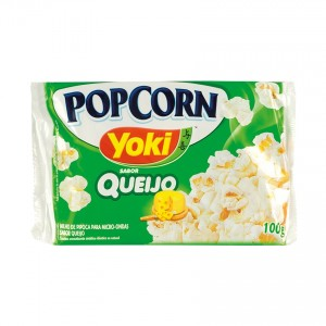 YOKI Mikrowellen-Popcorn mit Käse Geschmack Pipoca para Micro-Ondas Sabor Queijo 100g