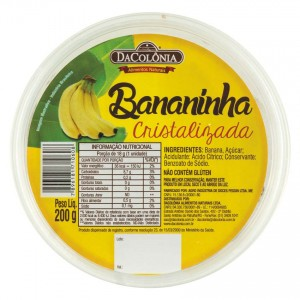 DACOLONIA Bananen-Riegel Bananinha Cristalizada 200g