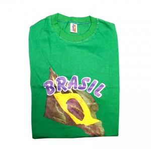 Grünes Brasilianisches Flaggenhemd Camisa Bandeira Brasileira