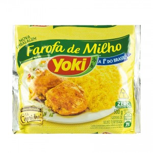 YOKI Gewürztes Maismehl Farofa Pronta de Milho 500g