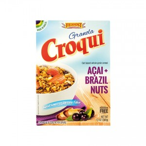 CROQUI Knuspermüsli mit Açaí und Paranuss Granola Açaí+Castanha do Pará 368g