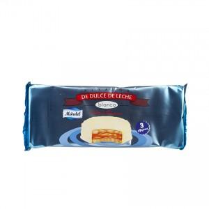 MARDEL Blanco- Milchkaramelle/Weiße Schokolade Bisquits -  Alfajor de Dulce de Leche Blanco 150g