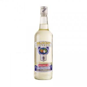 BELMONT ESTATE Caribbean Coconut Rum - Spirituose auf Rumbasis mit Kokosaroma, 700ml 30%vol