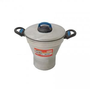DEL REY (Nr. 20) Aluminium-Couscous-Topf Cuzcuzeiro de Alumínio Polido 4 l