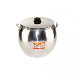DEL REY Aluminium-Kessel Caldeirão Bojudo de Alumínio Polido 15 l.