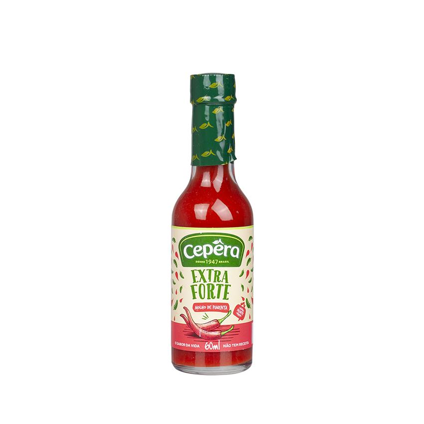 CEPERA Rote Chilisoße, extra scharf - Molho de Pimenta Vermelha Extra-Forte, 60ml