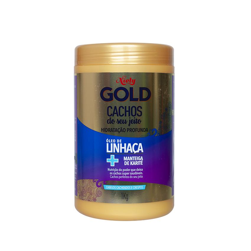 NIELY GOLD Haarpflegemittel - Hidratação Profunda Oleo de Linhaça + Manteiga de Karité, 1 kg