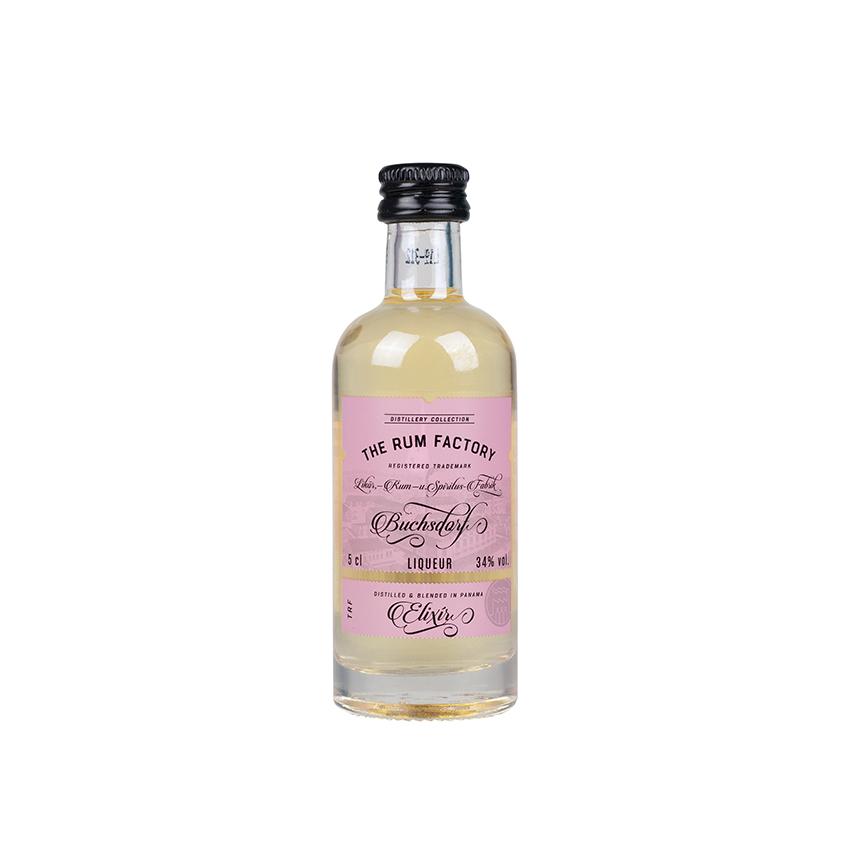 THE RUM FACTORY Elixir Panama Liqueur 34% vol., Mini-Flasche 50ml